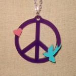 peace bird and heart necklace-Featured Image