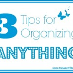 Pic #1 - 3 Tips for Organizing Anything