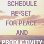 Schedule Re-Set for Peace and