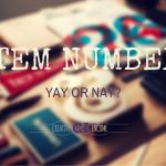 ITEM NUMBERS