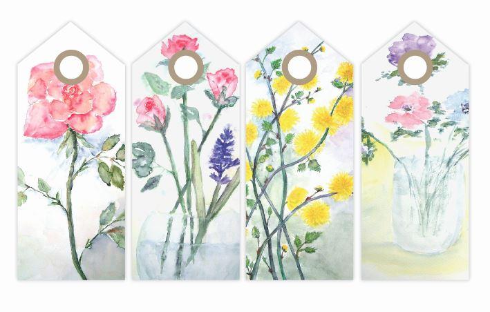 Vintage Floral Printable Tags