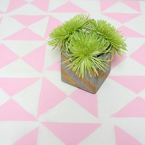 DIY Geometric Tablecloth