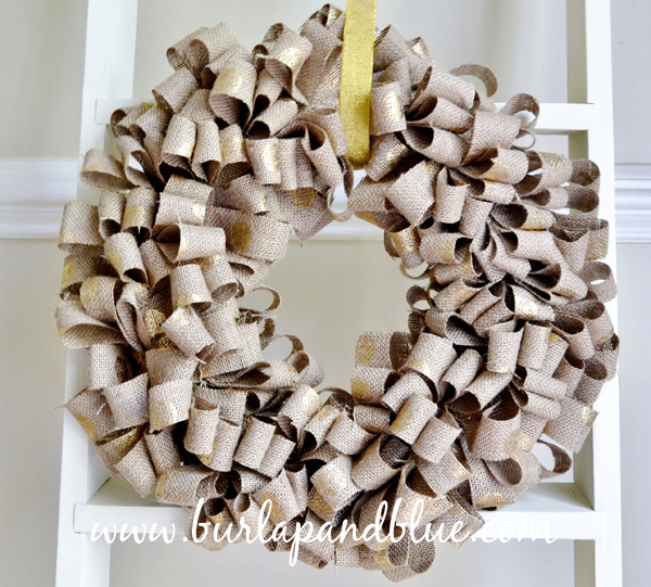 Gold Dotted DIY Wreath
