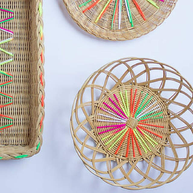 Modern Embroidered Baskets