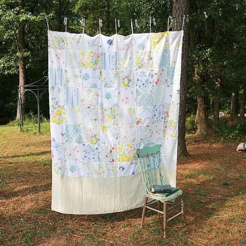Pretty Patchwork DIY Curtains