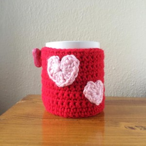 Heartfelt Crochet Mug Cozy