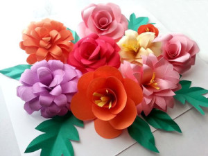 Beautiful Bohemian DIY Paper Flowers