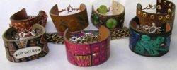 Recycled Belt Leather Bracelets