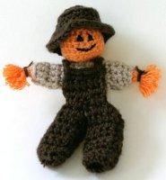 Crochet Scarecrow Finger Puppet