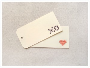 Embroidered Price Tag Tutorial