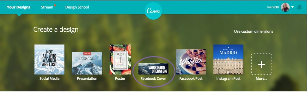 Use the template to customize your cover photo.