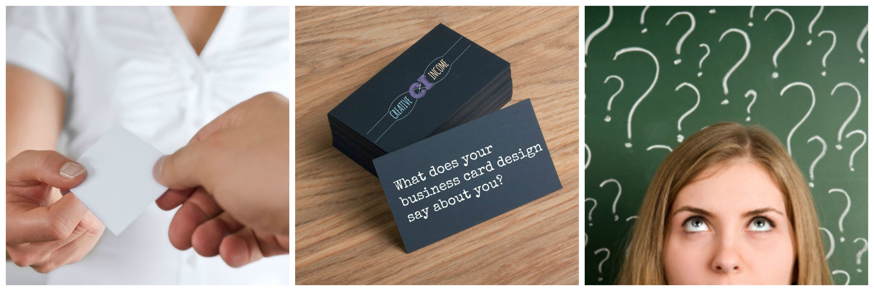 What Does Your Business Card Design Say About You Creative Income