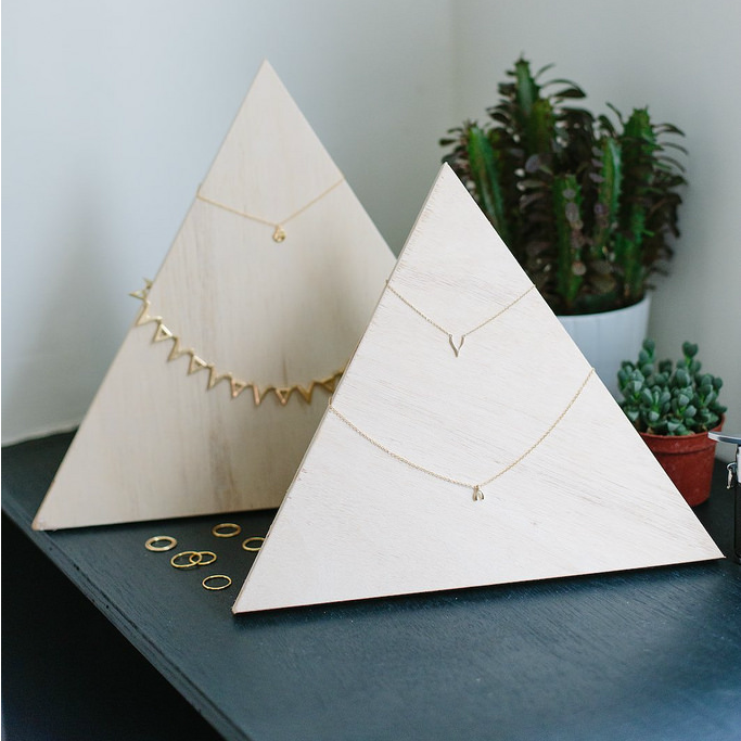 Plywood Jewelry Pyramid