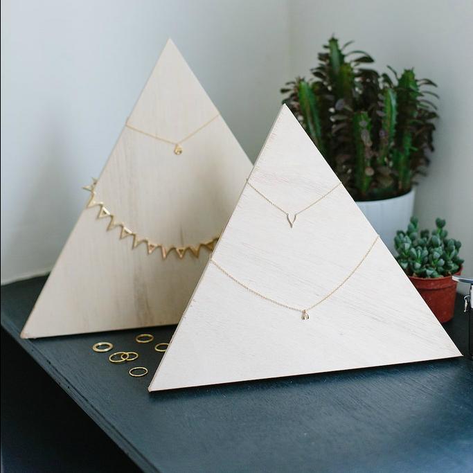 Plywood Jewelry Pyramid