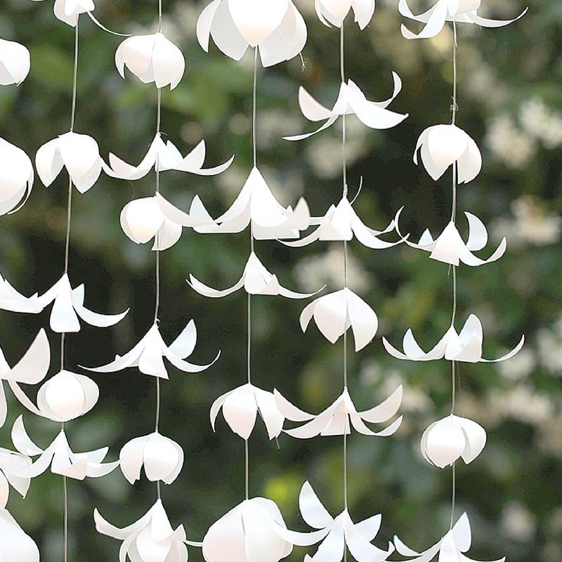 White Vellum Paper Flower Garland Creative Income