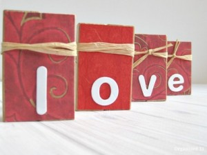 Repurposed Blocks Valentine's Day Decor